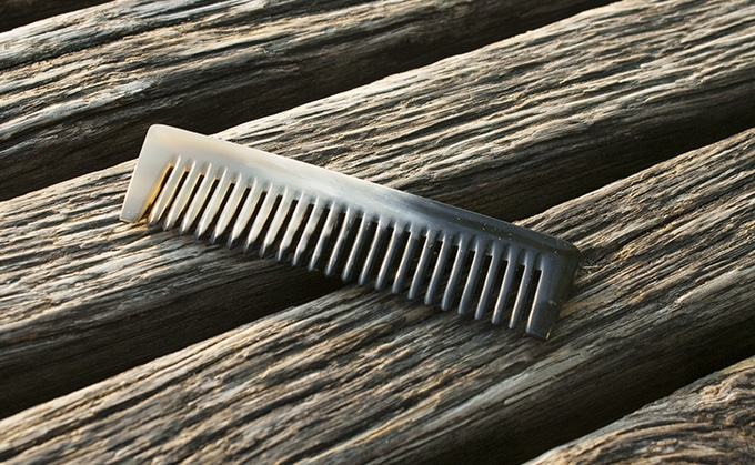 peigne en corne - barbe - barb'art