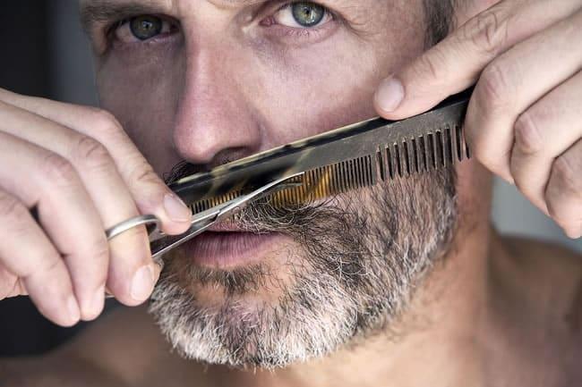 peigne corne barbe