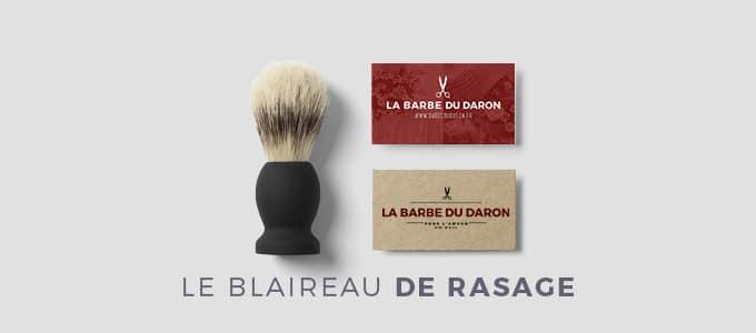 blaireau de rasage rasoir coupe-chou - kit de rasage