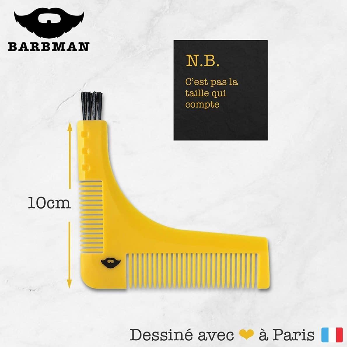 groomarang le pochoir barbe pour tracer et tailler sa. Black Bedroom Furniture Sets. Home Design Ideas