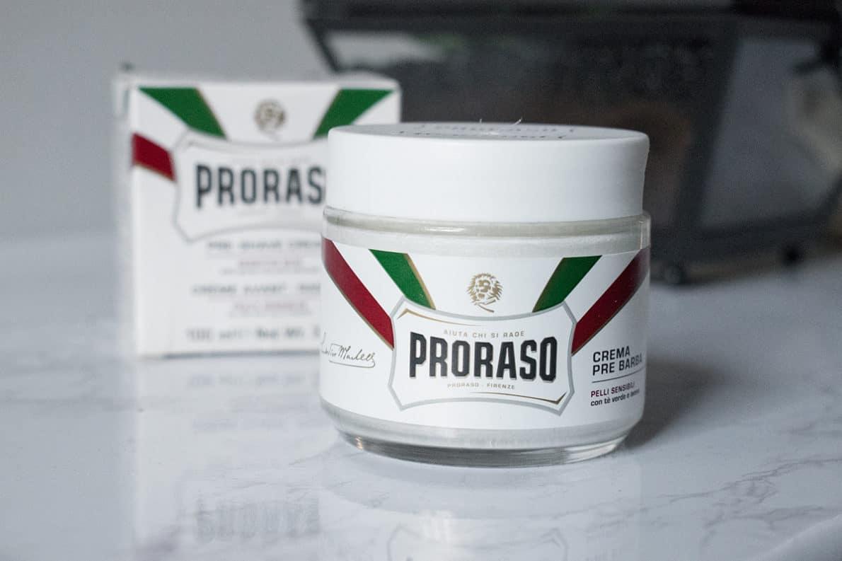 crème avant rasage Proraso